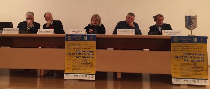 """Il Lions Club Host di Manfredonia e """"L'educazione allo stile di vita nel diabete"""" - Manfredonia News"""