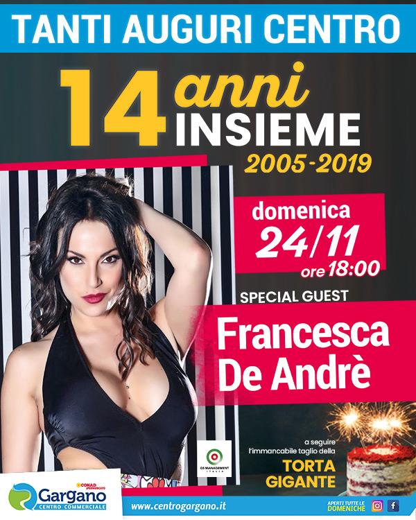 Buon Compleanno Centro - Special Guest Francesca De André